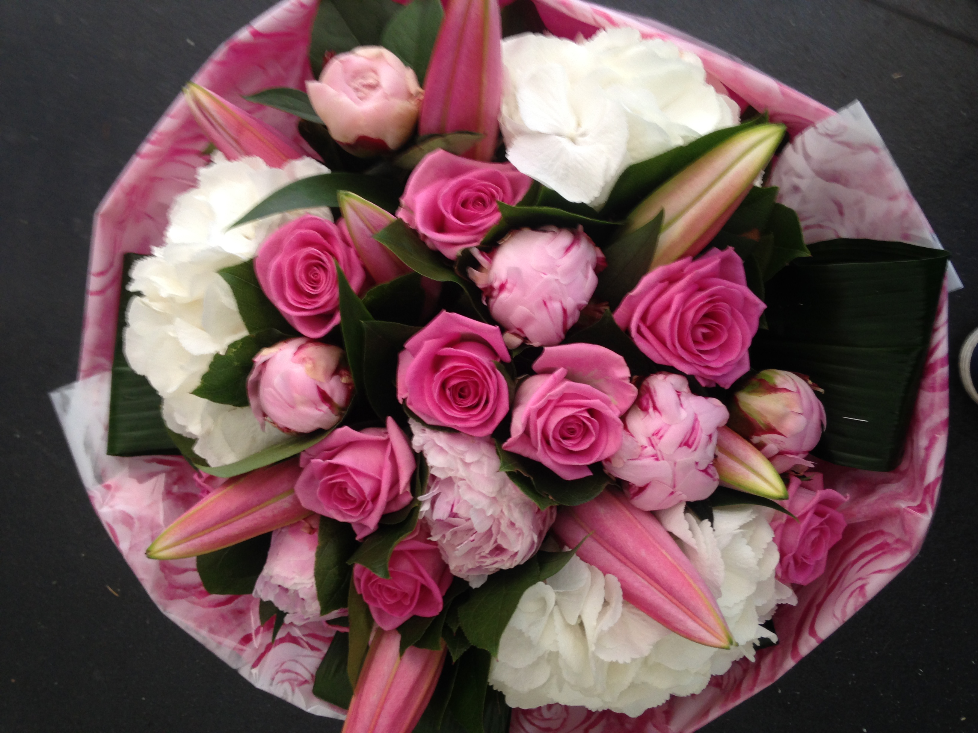 The florist loughton occasions get well soon pink and white summer delight dhlflorist Images