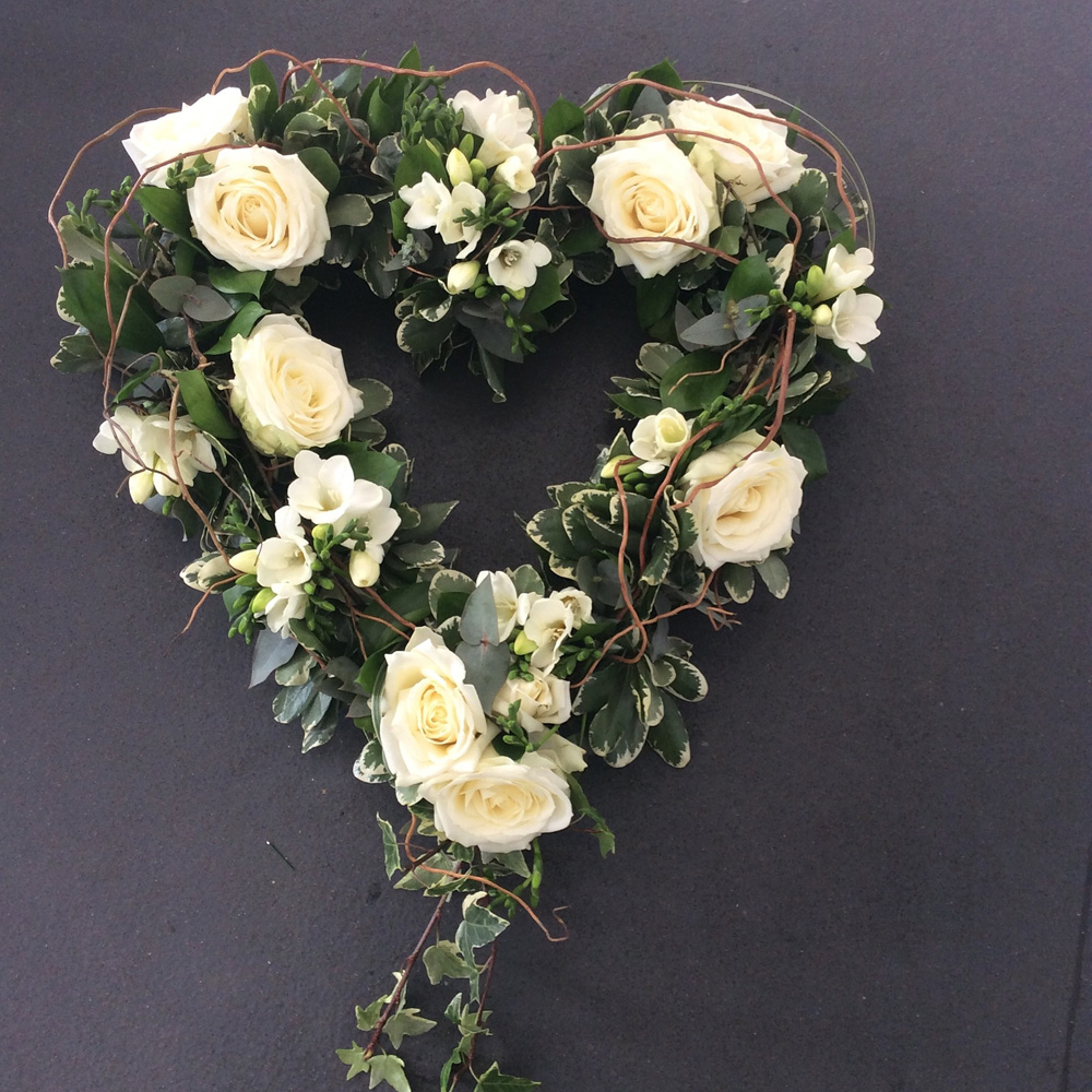 The florist loughton funeral flowers hearts and crosses open heart funeral izmirmasajfo